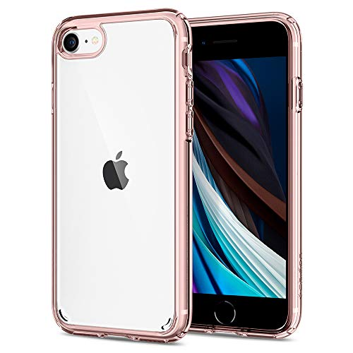 Spigen Funda Ultra Hybrid Compatible con iPhone SE 2020, Compatible con iPhone 8 y Compatible con iPhone 7 - Rosa Cristalina