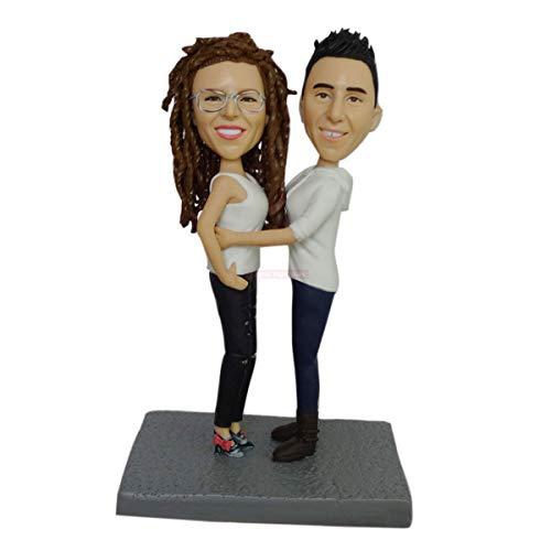 pareja uno frente al otro ideas de regalos personalizados basados en las fotos de su boda muñecas personalizadas cabeza de muñeco de peluche