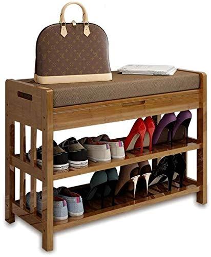 Wddwarmhome Zapatero taburete de almacenamiento para zapatos, taburete de almacenamiento multifuncional, para sala de estar, banco de zapatos (tamaño: 50 x 30 x 50 cm)
