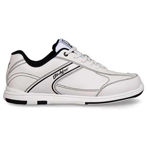 KR Strikeforce Mens Flyer Bowling Shoes White Black White/Black, 15.0