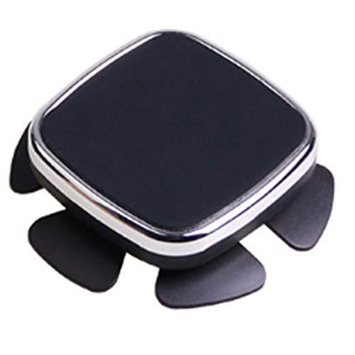 Happy Shop Car Cradle Car Steering Wheel Car Holder Magnetic Car Phone Holder Good Sight Support GPS Display Dashboard Holder Stand Anti-Shake (Color : Silver)