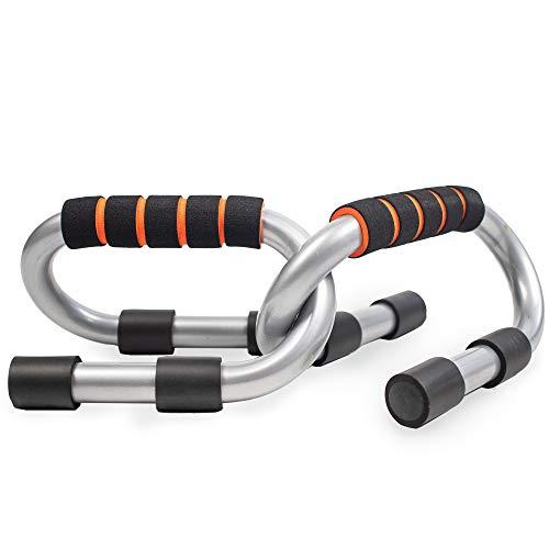 Phoenix Fitness RY934 Liegestütze Liegestützgriffe 2er-Set Liegestütz Griff mit rutschfeste, Push Up Bars für Muskeltraining und Krafttraining, Silber