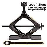 LEAD BRAND Scissor Jack, Labor-Saving Design, 1.8 Tons(3968lbs) Capacity, Oversize Base