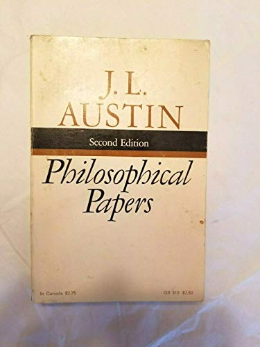 Philosophical papers. Edited by J.O. Urmson and G.J. Warnock.
