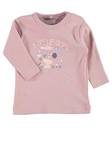 HO-1509 naam it meisje shirt roze met print, kleur: roze, maat: 80