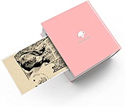 Mini Bluetooth Sticky Note Printer - Phomemo M02 Pocket Thermal Post It Printer Portable Hand-held Ink-Less Printers, Compatible with iOS/Android for to-do List, Journal, Planner, Scrapbook, Labeling