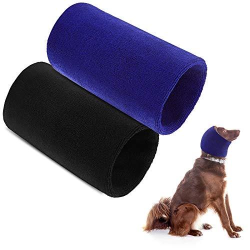 2 Stücke Hund Snood Hund Hals und Ohrenwärmer Haustier Hund Kapuzenpullover Hund Ohrwickel Haarnetz Warm Winter Hundehut Stricken Kopfbedeckung für Komfort, Anti-Angst bei Lärmplatz