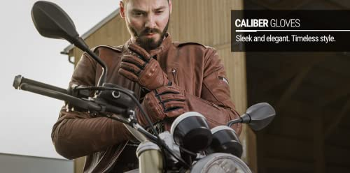 Shima CALIBER Herren Retro Vintage Custom Sommer Motorradhandschuhe (S-XXL, Braun), M - 4