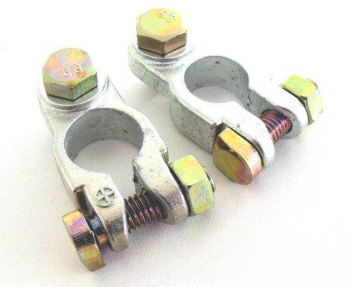 Polklemmen Autozubehör 12V Batterieklemmen Autobatterie-klemme M8 Plus Minus Set