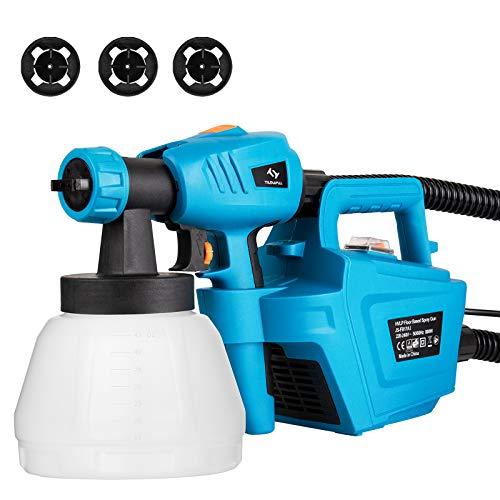 Paint Sprayer, Tilswall 800 Watt Home Electric Spray Gun Power Painter with...