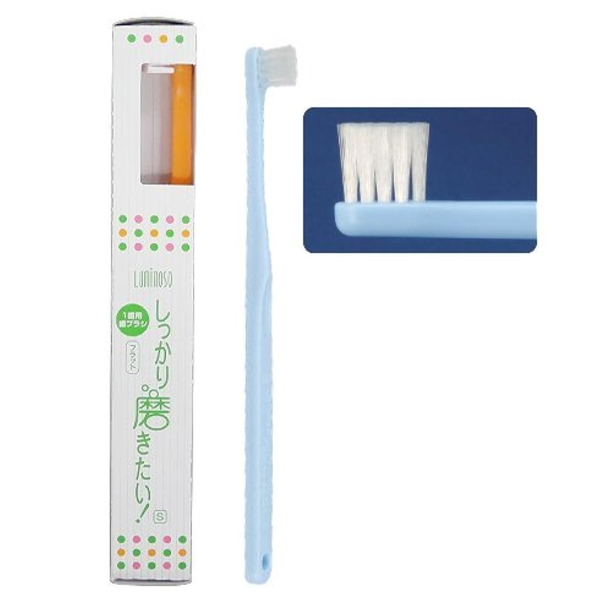 ケイ素キロメートル何ルミノソ 1歯用歯ブラシ 「しっかり磨きたい!」 フラット ソフト (カラー指定不可) 10本
