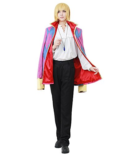 Men's Howl Cosplay Costume from Ghibli movie