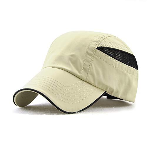 sdssup Sombrero de Malla Deportivo Protector Solar Pato Lengua béisbol Gorra Beige Ajustable