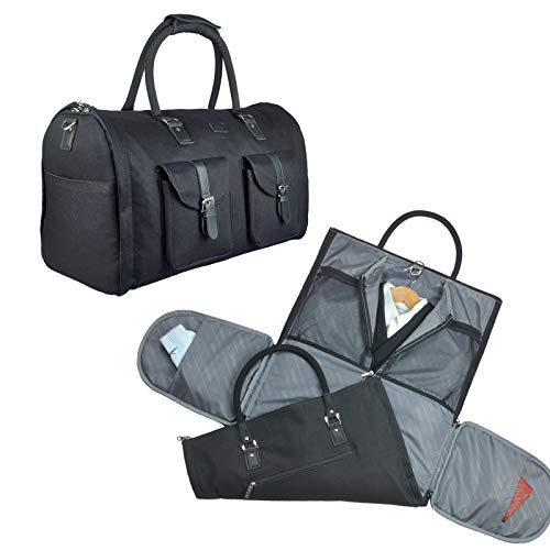 2 in 1 Convertible Travel Garment Bag Carry On Suit Bag Luggage Duffel (Standard)