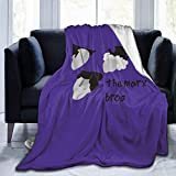 Fleece Blanket The Marx Brother Plush Throw Fuzzy Super Soft Reversible Microfiber Flannel Blankets 50'x40'