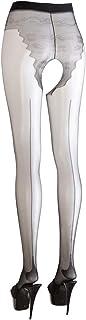 Cottelli Collection Cottelli Collection Stockings & Hosiery - verführerische Strumpfhose mit offenem Schritt und Höschenteil, erotische Ouvert-Strumpfhose für sie, schwarz
