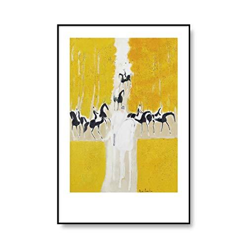 Andre Brasilier pintura al óleo abstracta cartel impresión en lienzo arte de la pared imagen familia sin marco pintura decorativa en lienzo A4 60x80cm