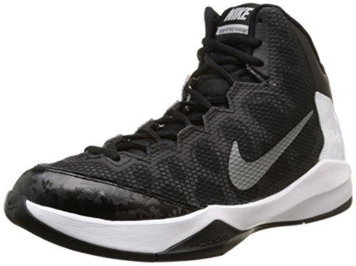 Nike Mens Zoom Without A Doubt Black/Mtllc Slvr/Flt Slvr/Chrm Basketball Shoe 7.5 Men US