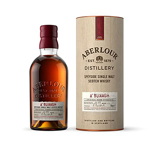 Aberlour A'Bunadh Highland Single Malt Scotch Whisky – Original Cask Strength Non Chill Filtered Scotch Single Malt Whisky – 1 x 0,7 L