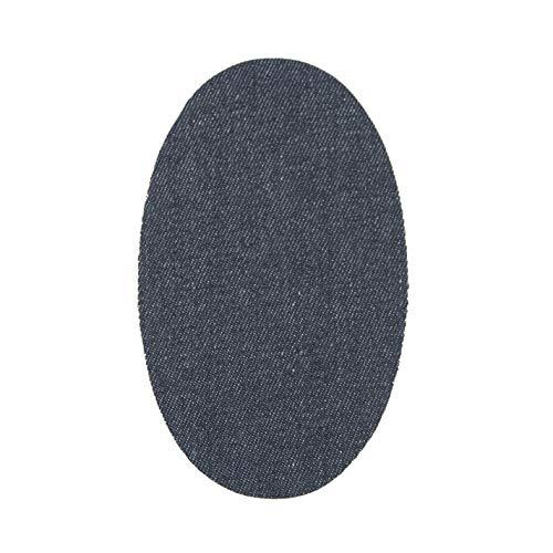 10 Rodilleras/coderas termoadhesivas para pantalones, cazadoras, chaquetas, camisas. 15 x 9 cm - Jeans Azul