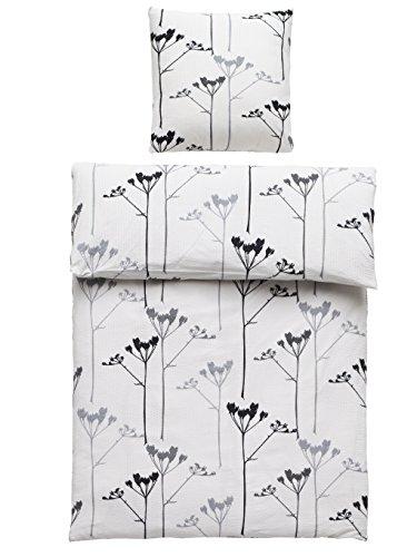 Seersucker Bettwäsche Mia 100% Baumwolle mit Reißverschluss 1x 135x200 Bettbezug + 1x 80x80 Kissenbezug