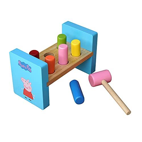 Barbo Toys Peppa Wutz Hammer Spielzeug ab 2 Jahre   Entwickelt Hand-Auge-Koordination   Offiziell Lizenziert von Peppa Pig