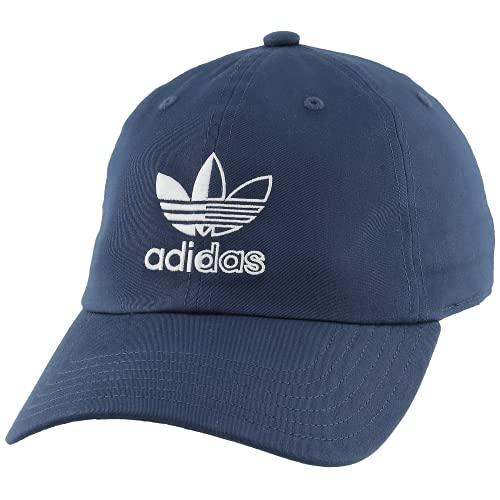 adidas Originals Split Trefoil Logo Relaxed Fit Strapback Cap Gorro/Sombrero, Crew Navy, Talla única para Hombre