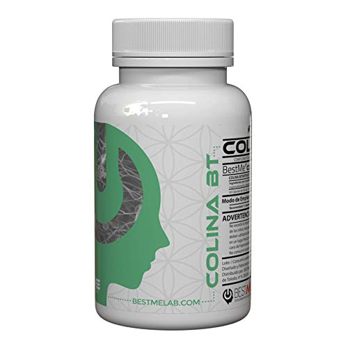 Bestme Colina Bt ✔ Bitartrato de Colina 250 Mg. Nootrópico Natural para la Memoria y Concentración . Nutriente Esencial Precursor de la Acetilcolina . Alta Biodisponibilidad. 60 Cápsulas ✅