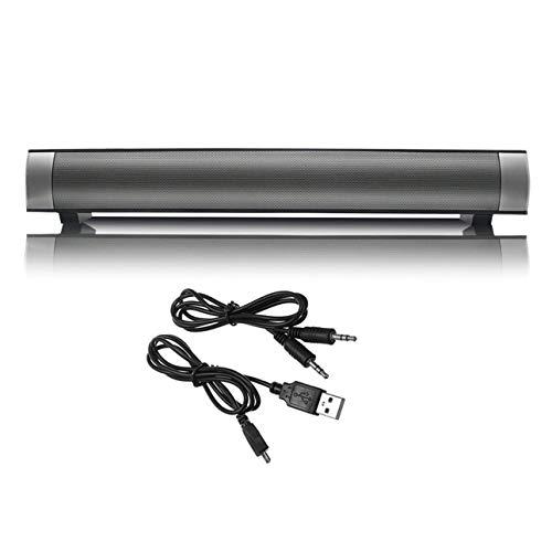 Ballylelly Sistema de Altavoces Multimedia inalámbricos de subwoofer de Barra de Sonido de Cine en casa inalámbrico con indicador LED
