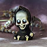 ZQD Muñeco de la muñeca de la Mueble, Linda Muerte en Miniatura, Estatua de Figura de fantasía gótica Halloween Death Sculpture Home Décor de Acento Figuras