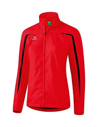 Erima Damen Leichtathletik Laufjacke, Rot/Schwarz, 38