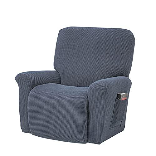 HUAGE Cubiertas de sofá de Silla, Tapa de sofá de Stretch de reclinable con espesas Pantalla DE PROTECCIÓN DE PROTECCIÓN REPRODUCCIÓN, Sofá Antideslizante de una Pieza (Color : Grey)