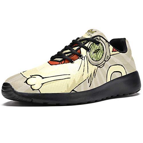 Zapatillas de correr para mujer, divertidos gatos con corona, de malla, transpirables, para caminar, senderismo, tenis, color, talla 40.5 EU