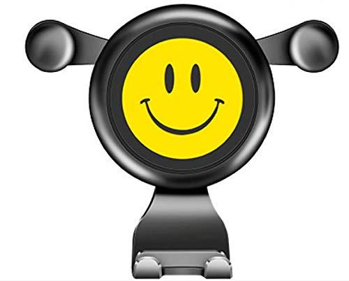 ZYTC Gravity Car Air Vent Mount Universeel Voertuig Een smiley face bracket voertuig outlet navigatie rek Stand voor Mobiele Mobiele Telefoon GPS Geel