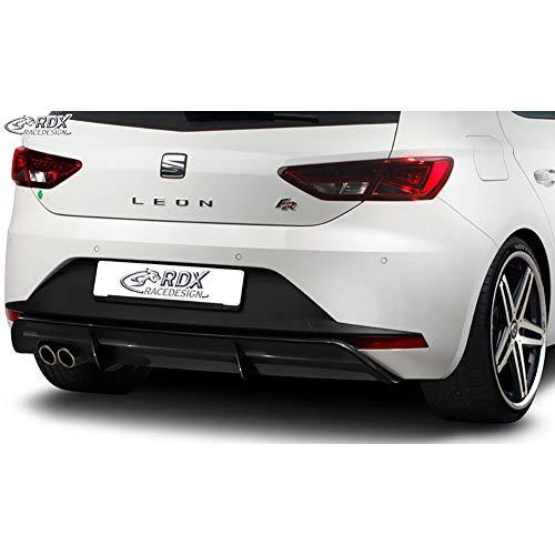 Faldón trasero 'Diffusor' compatible con Seat Leon 5F FR SC/5 puertas 2013-2017 excl. ST/Cupra (ABS Negro Brillante)
