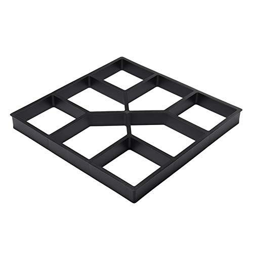 Qoyntuer Walk Maker Concrete Molds for Stepping Stone,Paver Walk Way Moulds Reusable Heavy Duty Paving Pavement Mold Garden Paving Mould DIY Garden Lawn Path Stone Mould Walk Way Cement Mold (C/4040)