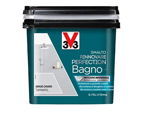 V33 Smalto Rinnovare Perfection Bagno Grigio Chiaro Satinato 0.75 l