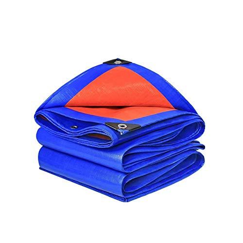 ZSEFV Heavy Duty Waterproof Tarp Tarps Heavy Duty Waterproof, Multi-Purpose Poly Tarpaulin, Thicken Plastic Tarps with Grommets, Outdoor Tarp Cover Premium Tarp, Anti-Tear, Waterproof, Uv Resistant