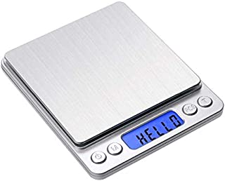 Gram Scale, Digital Kitchen Scale, Mini Size Food Scale 1000g 0.01g - High Precision Jewelry Weight Scale with Platform, L...