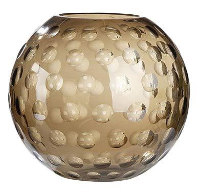 GILDE GLAS art Design-Vase - Dekoobjekt handgefertigt aus Glas H 36 cm