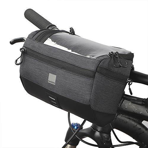 VERTAST 3L Fahrrad Lenkertasche Wasserdicht, Multifunktional mit Transparentem Deckel für Handy