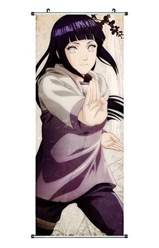 CoolChange Großes Naruto Rollbild / Kakemono aus Stoff Poster, 100x40cm, Motiv: Hinata Hyuuga