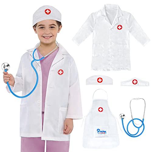 Sanlebi Juguetes Medico con Gorro Estetoscopio Regalo de Juego de rol para 3 4 5 Aos