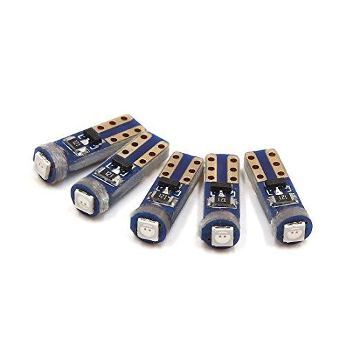 sourcing map 5pcs 12V Rouge T5 3030 SMD LED Ampoule Tableau bord interne jauge