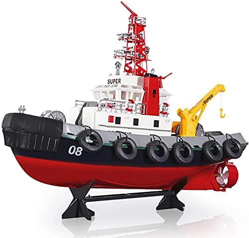 2.4GHz Control Remoto Barco Simulación Simulación Modelo Modelo Radio Toy Fire Boat Piscina de Alta Velocidad Lago Agua Spray Función Control Remoto Juguetes