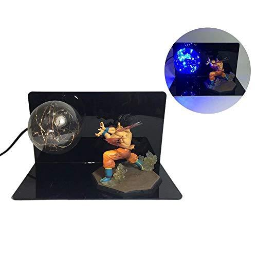 Anime Dragon Ball Z Son Goku Power Up Super Saiyan Bomb Genki Dama Lámpara de luz LED Figura de acción Conjunto Completo Acrílico 3D USB LED Lámpara de Mesa