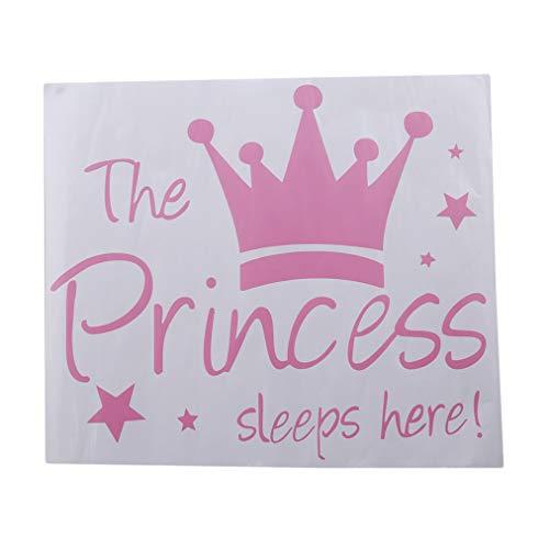 Sevenfly Prinzessin schläft Hier wandtattoo entfernbare wandaufkleber für wohnkultur (44 * 38 cm)