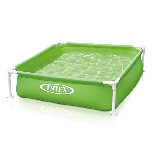 Intex 57172EP 48 x 12 Inch Mini Frame Beginner Teaching Above Ground Kiddie Beginner Swimming Pool, Green