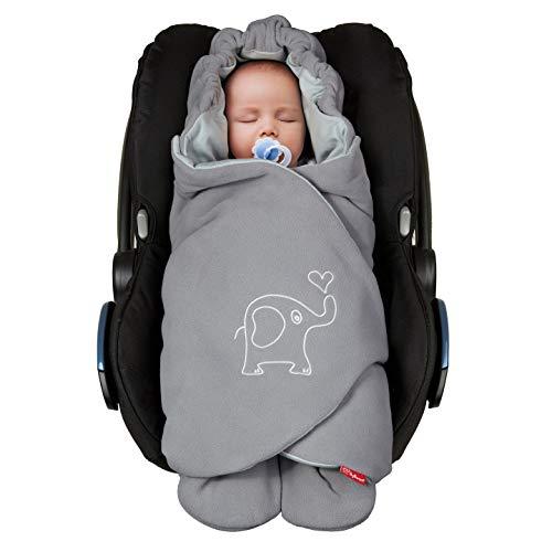 ByBoom Baby Einschlagdecke für die Übergangszeit und Sommer, OEKO-TEX, für Babyschale, Autokindersitz, z.B. Maxi-Cosi, Römer, für Kinderwagen, Buggy, Babytrage, z.B. Manduca, Babybett