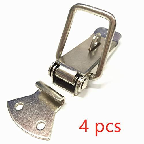 TINGS 2Pcs Toolbox Case Metallfeder Kippverriegelungsverschluss Verschluss für Koffer Brustverriegelungsbox Toolbox Verriegelung Haken Verriegelung für Tür, 4 Set
